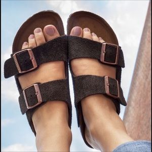 🆕 MADEWELL x Birkenstock brown arizona sandals